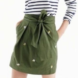 J.Crew olive skirt with flowers